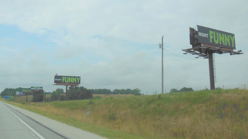 Miles of Billboards approaching Branson