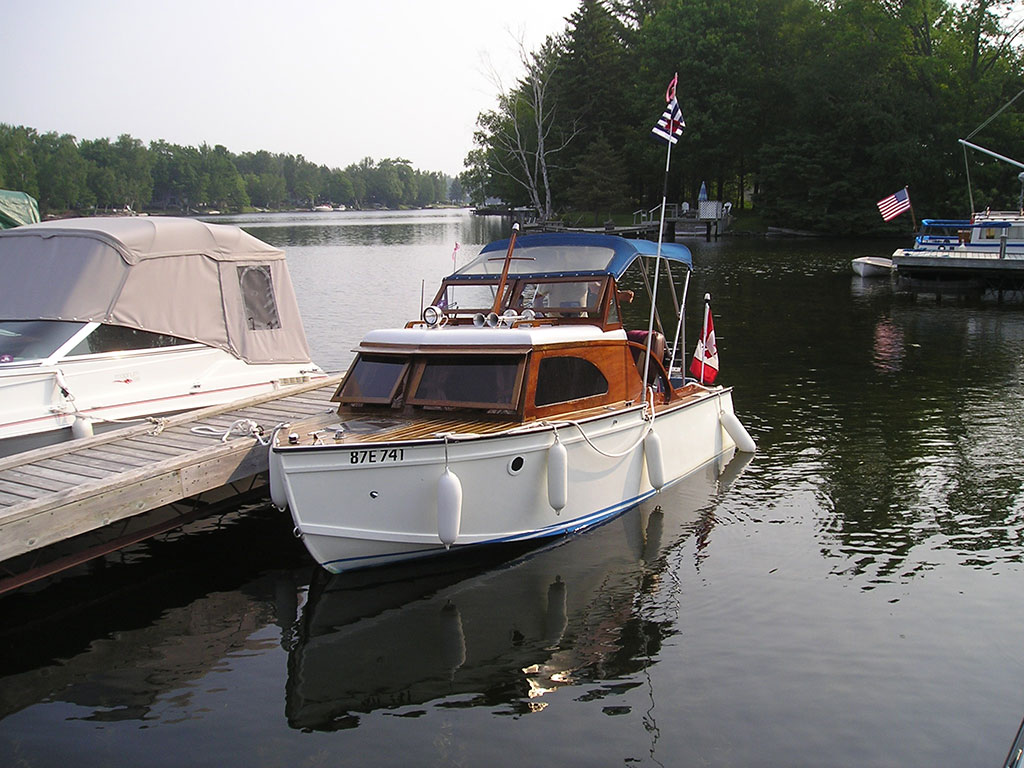 16 ft cuddy cabin cruiser built from a plan in 1958 Mechanics Illustrated magazine