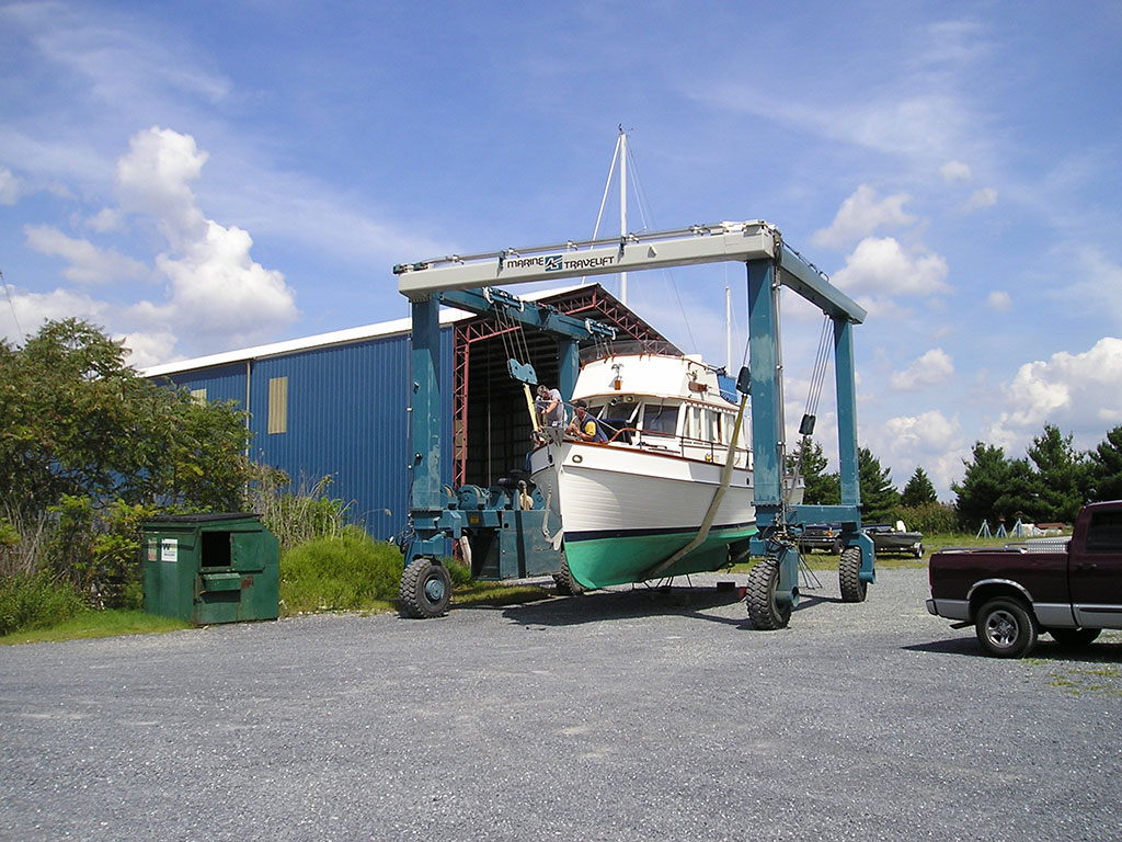 Picking up the Katy Leigh at Dickerson Yacht Harbor