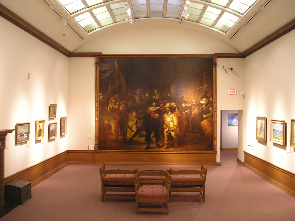 Rembrandt painting in Bartlett Arkell art gallery