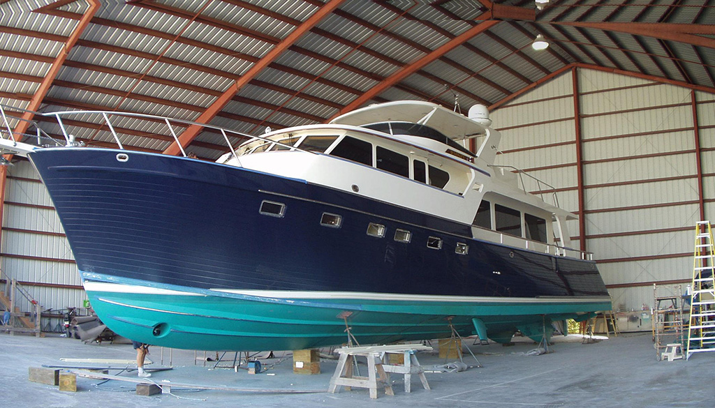Marlow Explorer in dry dock