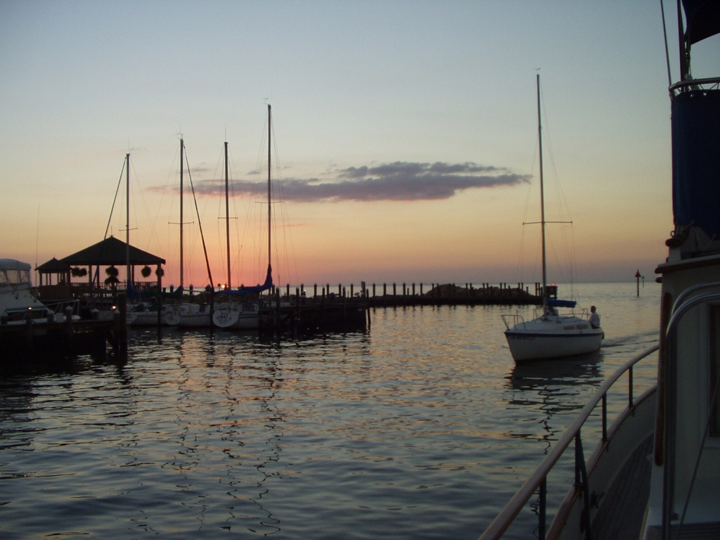 Fairhope Yacht Club at sunset