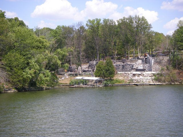 Ruins of Johnny Cash's home on Old Hickory Lake