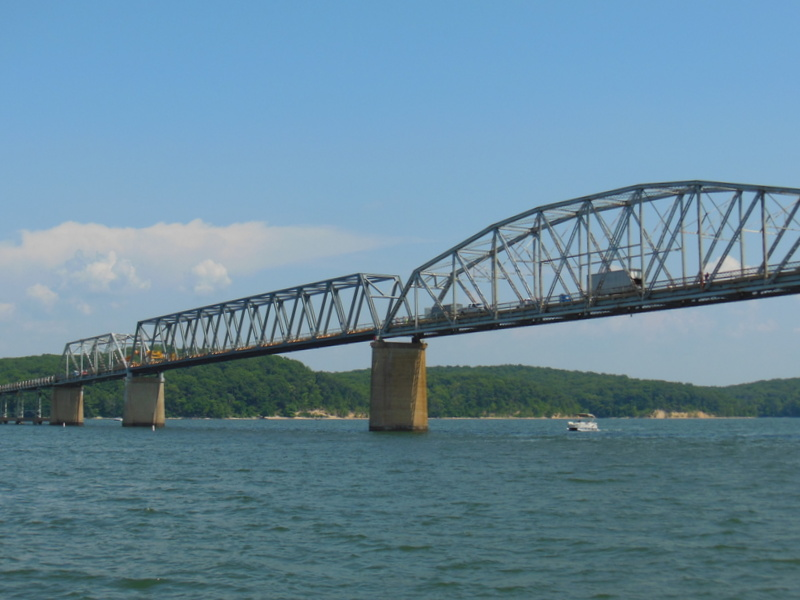 Hwy 68 Eggners Ferry Bridge - new span. . . new look