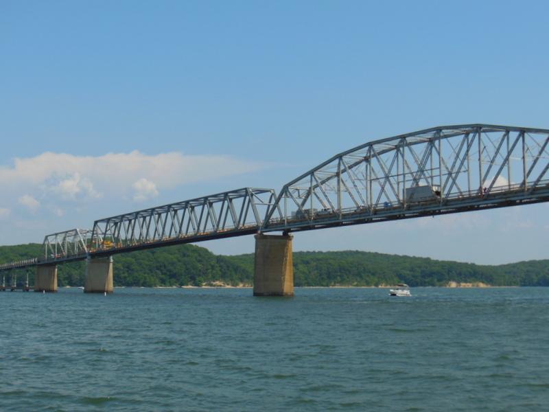 Hwy 68 Eggners Ferry Bridge - new span. . . new look