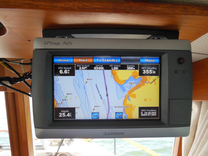 Garmin Chart with Radar Overlay & Depth