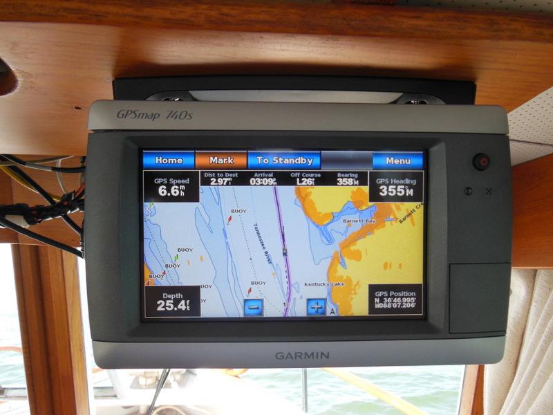 Garmin Chart with Radar Overlay & Depth