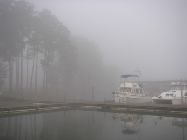 Marina fog at Scottsboro