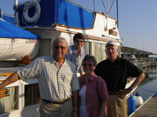 Bob and Mavis with Ron and Eva Stob