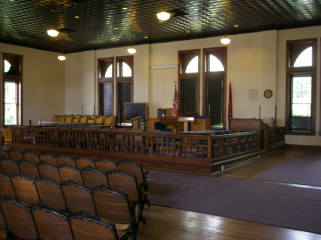 "Dayton courtroom, famous for the ""Monkey Trial"""