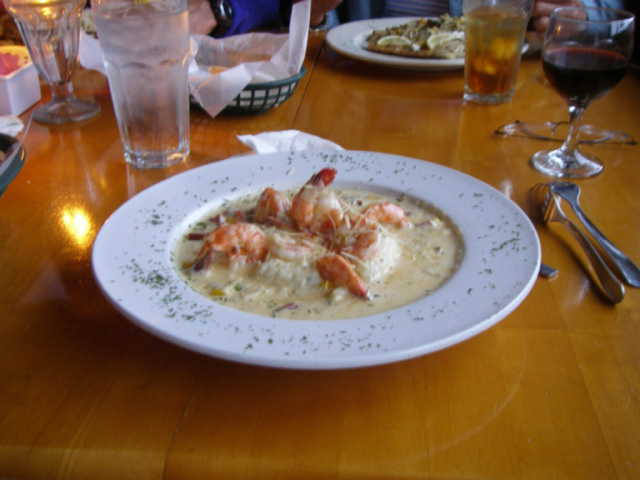 Shrimp and grits from The Docks restaurant