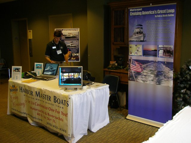 Harbor Master Boats booth at the Rendezvous