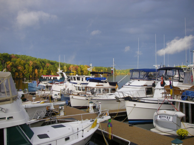 "36 ft Grand Banks, ""Room With A View"" (4th boat from the right)"