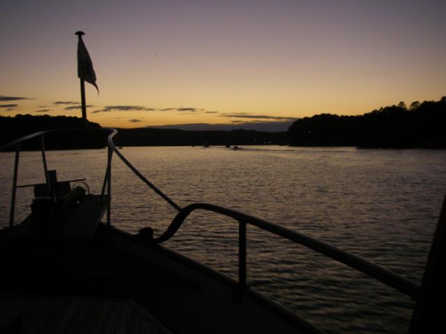 Sunset on the way to Aqua Yacht Harbor