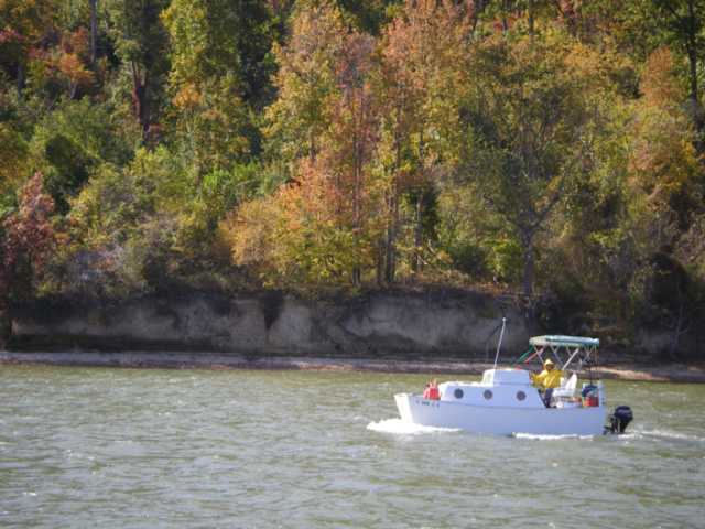 """Crew's Boat"" heading south"