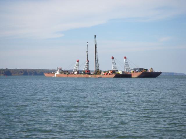 Barge raising